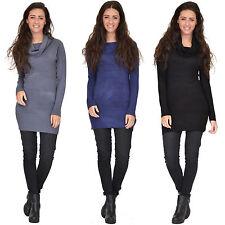Cotton Blend Polo Neck Short/Mini Dresses