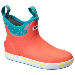 """Xtratuf 6"""" Ankle Deck Boots - Women's - 8 / Coral Coho"""