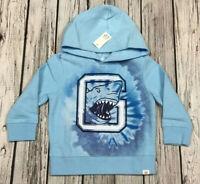 Baby Gap Boys 2 / 2T Light Blue Shark Hoodie Sweatshirt. Nwt