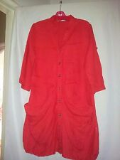 RJ Wear ladies watermelon 100% linen shirt size 10 (mini dress)