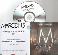 MAROON 5 makes me wonder CD PROMO france french paper sleeve pochette papier