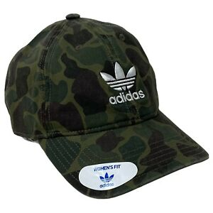 Adidas Originals Forest Camouflage Relaxed Women's Fit OSFW Adjustable Hat New