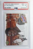 2007 Upper Deck NBA Heroes Kevin Durant #KD-10 PSA 6 EX-MT