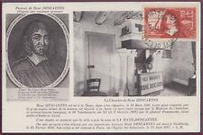 FRANCE CARTE MAXIMUM N°341 DESCARTES Obl 1937 Maxi Card Edition Le Roy