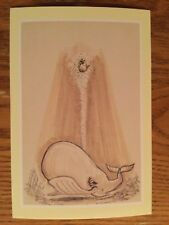 POSTCARD UNUSED DISNEY-THE LITTLE MERMAID, C. 1989, SQUIRTING OUT OF A WHALE