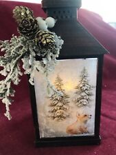 Beautyful Christmas lantern With Flickering Led Candle