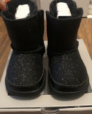 Baby Uggs Boot (Black Glittery) Size 2/3