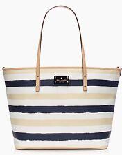 KATE SPADE Bondi Road Harmony Baby Diaper Bag Striped Navy/Cream wkru2575 NWT
