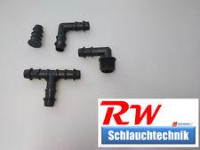 Schlauchverbinder, T-Stück, L-Stück, Blindstopfen, AG, Kunststoff, Tropfschlauch