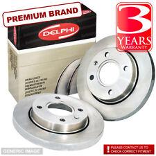 Rear Solid Brake Discs Ford Galaxy 1.9 TDI MPV 2003-06 130HP 268mm