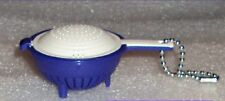 Tupperware Key Chain Keychain Collectible Double Colander Bold N Blue Rare New