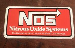 "NOS Nitrous Oxide Systems Cypress California Sticker 5"" x 2 3/4"""