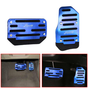 Universal Blue Non-Slip Automatic Gas Brake Foot Pedal Pads Cover Car Accessory