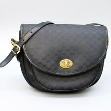 GUCCI Vintage Micro GG Pattern Coated Canvas Flap Crossbody Shoulder Bag JUNK