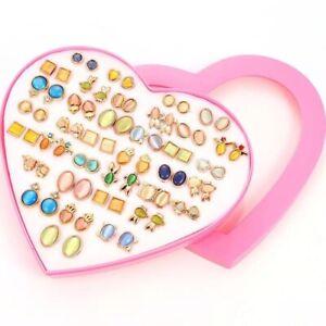 STUD PLASTIC JEWELLERY EARRINGS WOMEN,GIRLS, KIDS MIXED PACK OF 36 ALLERGY