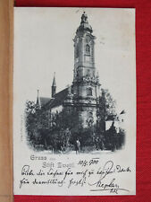 Fotokarte - Gruss aus Stift Zwettl - gel 1900 an Probst Kerschbaumer in Krems