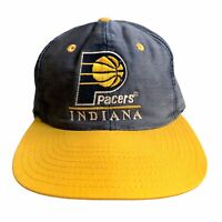 Vintage Indiana Pacers Snapback Dad Hat Two Tone Green Bill Front Row 90s