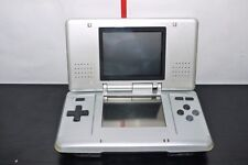 NINTENDO DS SILVER CONSOLE WORKING BROKEN HINGE