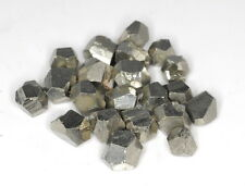 5-8MM NATURAL PYRITE GEMSTONE NATURAL CUT OCTAHEDRON CUBE 20-24 BEADS