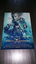 "PIRATES OF THE CARIBBEAN 5 PP SIGNED 12""X8"" A4 PHOTO POSTER JOHNNY DEPP"