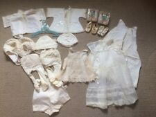 Vintage Baby Clothes Shoes Christening Baptism Lot!!