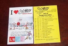 Los Angeles Lazers  Schedule indoor Soccer  league 1985-86