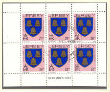 JERSEY 1981 December H-Blatt 2 P Wappen / Coat of Arms mit ESST VFU
