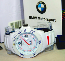 Ice-Watch 000837 Mens BMW Motorsport White Big Silicone Strap Watch NEW RRP £109