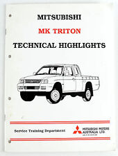 Mitsubishi Triton MK  factory technical highlights manual  published 1996