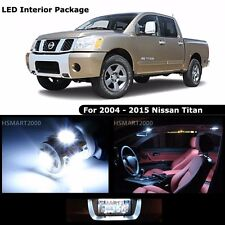 17PCS Cool White Interior LED Bulbs Package Kit For 2004 - 2015 Nissan Titan
