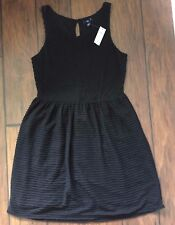 NWT Gap Womens  Dress Size M Black Lined Sleeveless Empire Waist Basic