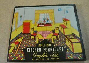 Built Rite Toy Furniture *KITCHEN FURNITURE SET No. 49 *Sealed