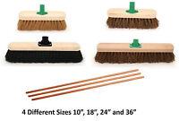 Sweeping Brush Head Soft and Stiff Hard Indoor Outdoor Broom Handle Yard Sweeper