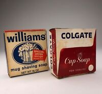 Lot of 2 Vintage COLGATE & WILLIAMS Mug Cup Soap for Shaving Unused Original Box