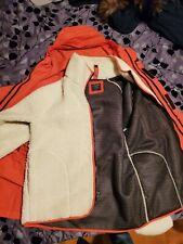 Abercrombie A&F Survival Parka jacket coat L large Orange 3 in 1 - Retail $260