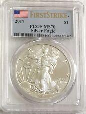 2017  $1 - First Strike - PCGS MS70 American Silver Eagle - Flag Label  JJ