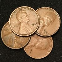 1920's Lincoln Wheat Cents (4-Coin Lot)