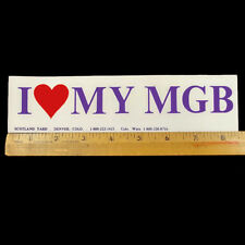 I Heart My MGB Vintage Bumper Sticker Scotland Yard Denver Colorado