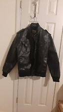 ROUTE 66 ~  BLACK LEATHER JACKET / SIZE XL