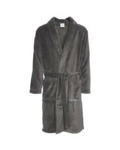 Calvin Klein Men's Plush Robe Peacoat/Charcoal New S/M L/XL AU Stock