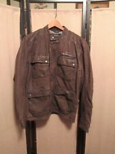 Lucky Brand Manx Mens Leather Brown Jacket  Retail $529- Size Medium   NWD