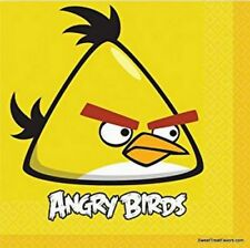 ANGRY BIRDS Party Supplies Birthday Animal NAPKINS Decoration LUNCH 16 Pieces NW