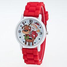 Xmas Gifts Children Kids Silicone Strap Watch Quartz Steel Wrist Watches B1