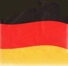 Deutschland Servietten Geburtstag 20-er Packung  Party Fußballparty  Länderparty