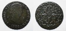 ESPAÑA. FERNANDO VII.  FERDINAND VII.    8 MARAVEDIS 1820 SEGOVIA.       MBC+