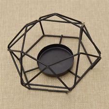 Kerzenständer Geometrisch Kerzenhalter Kerzenleuchter Metall Modern Deko Schwarz