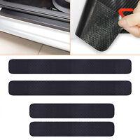 4pcs Auto Türschwelle Scuff Abdeckungen Welcome Pedal Schutz Kohlefaser Sticker
