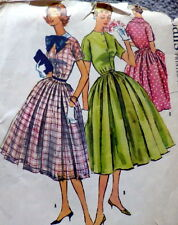LOVELY VTG 1950s DRESS McCALLS Sewing Pattern 16/34