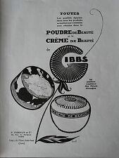 Publicité 1924 advertising Gibbs poudre de beauté Erel Art déco