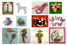 Wholesale Clearance-50 Top Quality Handpainted Cloisonne brooch pins-New
